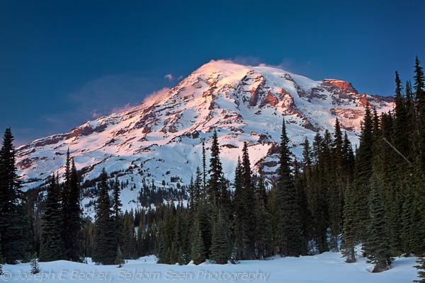 Sunset on Mount Rainier