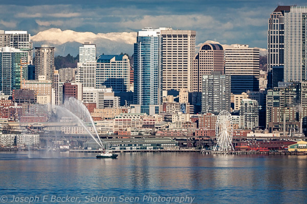 Downtown Seattle from Belvedere viewpoint